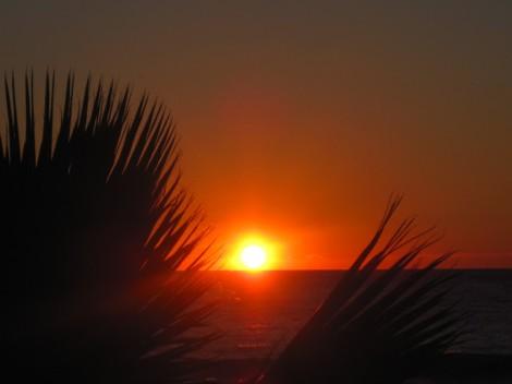 Solnedgång i Medelhavet