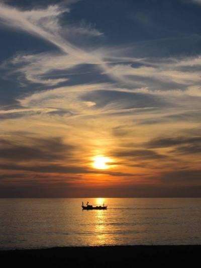 Fiskebåt i Alanya