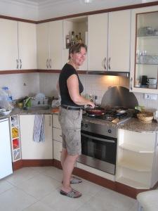 Jag i köket i Alanya