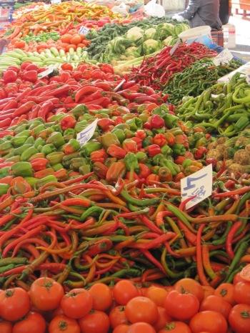 Grönsaksmarknad i Alanya