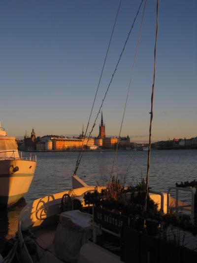 Utsikt från Norr Mälarstrand i kvällsolen