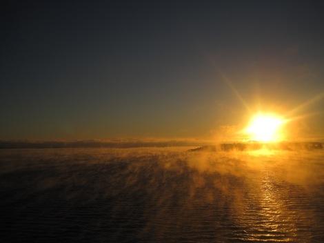 Ett morgonkyligt Ålands hav