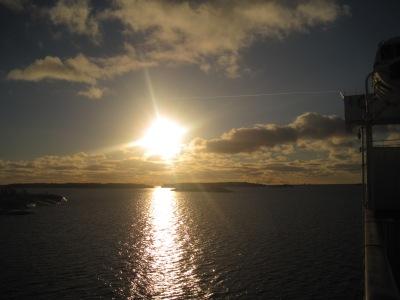 M/S Rosella på väg ut från Mariehamn