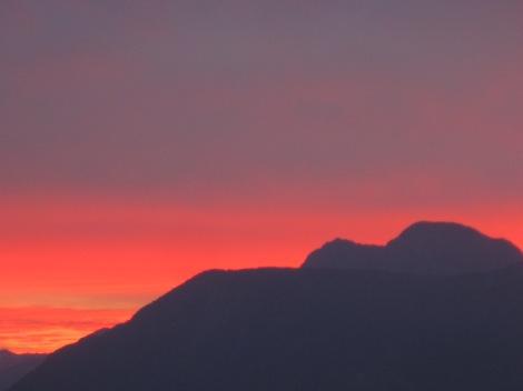 Soluppgången sedd från balkongen...