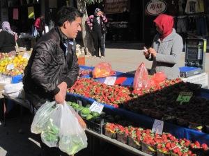 Jordgubbar på Fredagsmarknaden