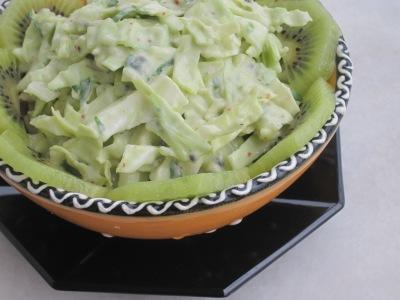Grön coleslaw