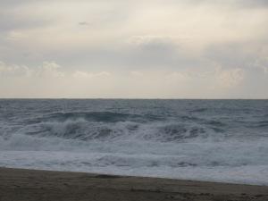 Upproriskt hav i Alanya