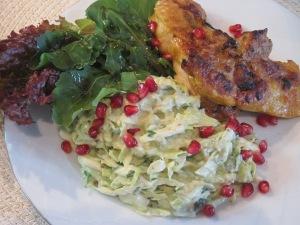 Kycklingschnitzel med coleslaw