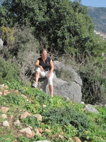 Jag på utflykt uppe i bergsbyn Tepe...