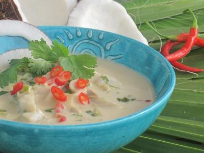 Fisksoppa med kokosmjölk, recept kommer senare