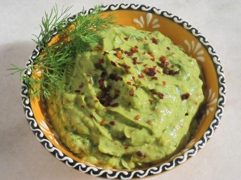 Guacamole med chili och dill