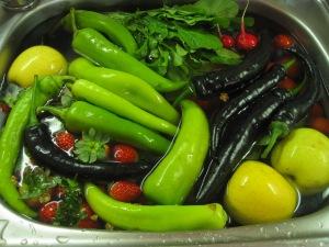 Inköp från grönsaksmarknaden