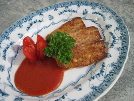 Falukorv med ketchup