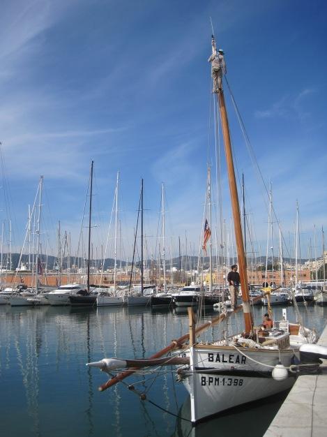 Fiskebåt i Palmas hamn