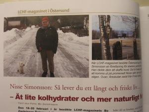 Om Nisse Simonson i LCHF-magasinet