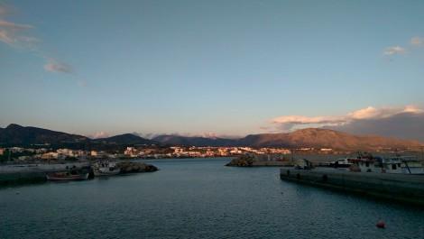 Kvällssol över Makrigialos, Kreta