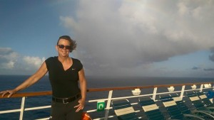 Jag i blåsväder på Royal Caribbeans Independence of the Seas...