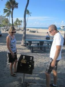 Grillning i Fort Lauderdale med Åsa och Pierre Holstein...