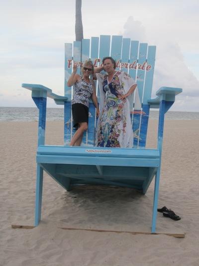 Min reskamrat, medicinjournalisten Åsa Holstein och jag i Fort Lauderdale...