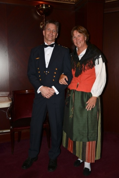 Jag och Major Fredrik Söderlund på Independence of the Seas Formal Night...
