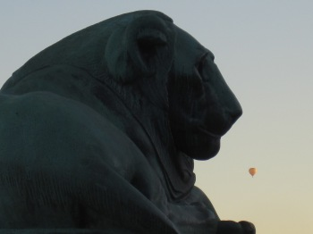 Luftballong över Stockholm