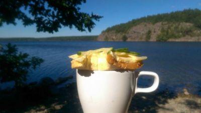 Kaffe och ostsmörgås