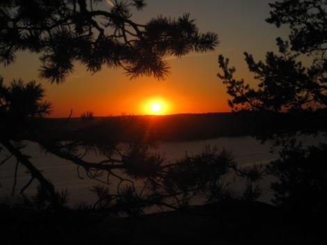 Solnedgång över Klämmingen...