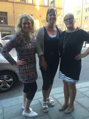 Lindha Vikström, Birgitta Höglund och Cecilia Nisbet Nilsson på Swedish Paleo