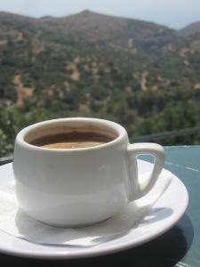 Grekiskt kaffe med utsikt...