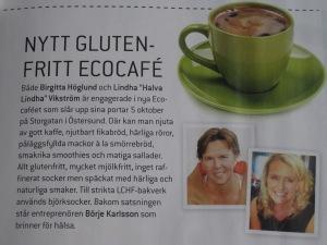 Om Ecocaféet i Tidningen Matkärlek