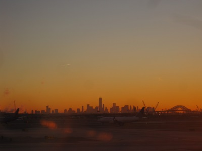 Soluppgång över Manhattan...