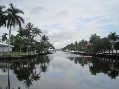 Fort Lauderdale vid Las Olas Boulevard...