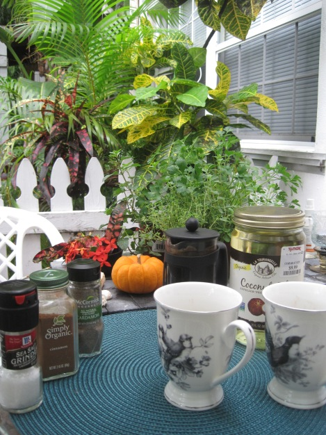 Magic Bullett Coffee with spices