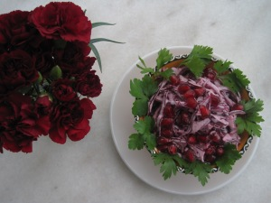Coleslaw på rödkål