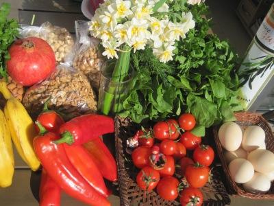 Inköp på grönsaksmarknaden i Alanya