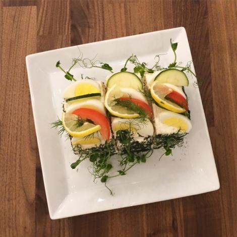 Smörgåstårta på Ecocaféet i Östersund... Foto Lindha Vikström