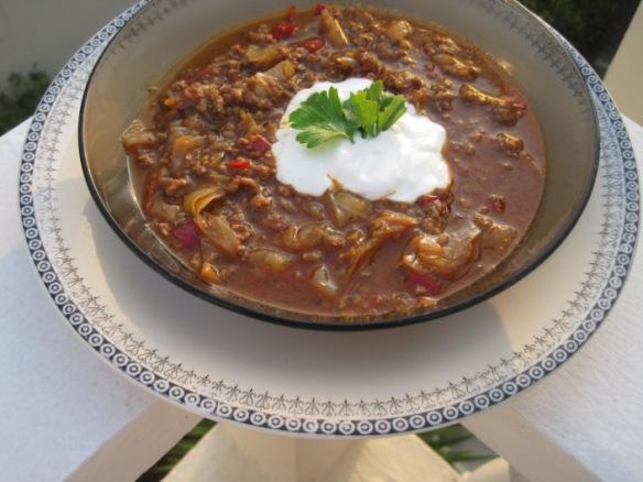 finsk kålsoppa med köttfärs