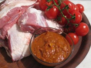 Lamm med indisk tomatsås
