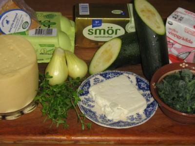 Gratäng med zucchini