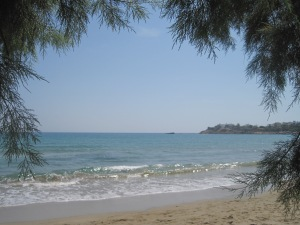 Stranden i Makrigialos...