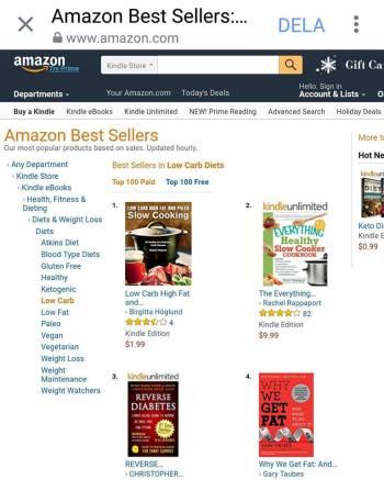 Skärmdump från Amazon
