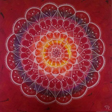 Mandalatavlan Flower Power av Therese Renåker... Klicka på bilden så kommer du direkt till tavlan...