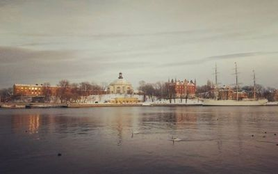 Vy över Skeppsholmen...