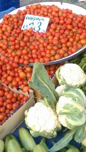 Blomkål och tomater
