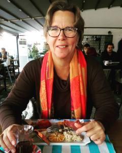 Birgitta Höglund på Mezza Gurme i Alanya