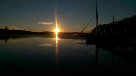 Solnedgång vid Stadshuset...