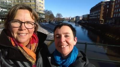 Birgitta Höglund och Therese Renåker i Malmö...