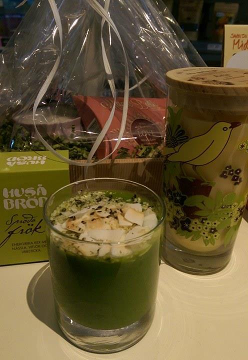 Grön smoothie på Ecocaféet i ÖstersundBirgitta Höglund's Mat