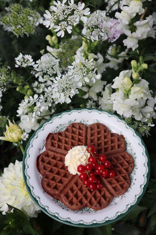 18. Chokladvåfflor med jordnötssmör och banan